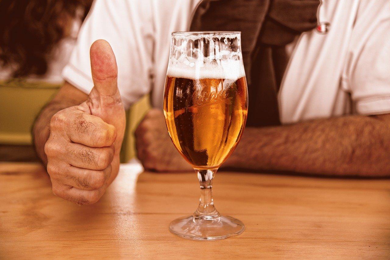 glass of beer, beer, glass